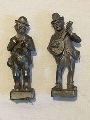 2 Zinnfiguren Musiker Figuren Zinn