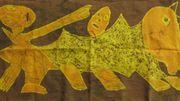 Gewachste Batik aus Tansania Wandschmuck