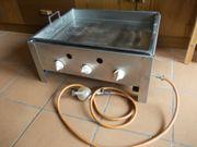 3-flammiger Tischgasgrill mit Pfanne gebraucht