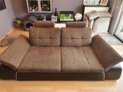 Big-Sofa Leder Stoff sehr guter