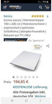 Matratzentopper Genius eazzzy Matratzenschoner 180