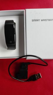 Fitness-Armband mit Herzfrequenz-Erkennung; schwarz; orig.verpackt, gebraucht gebraucht kaufen  Hennef