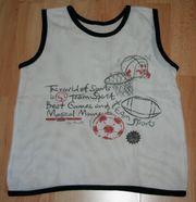 Weißes Shirt - Top - Größe 128 - Achsel-Shirt