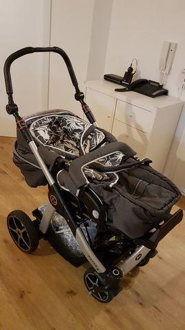 Superschöner Hartan Kinderwagen- plus Cybex Autokombi: Kleinanzeigen aus Eggenstein-Leopoldshafen - Rubrik Kinderwagen