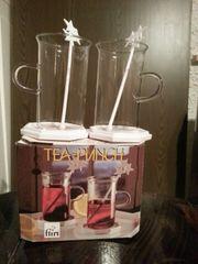 2 Tee Gläser - Tea-Punch in