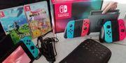 Nintendo switch mit 17 spielen