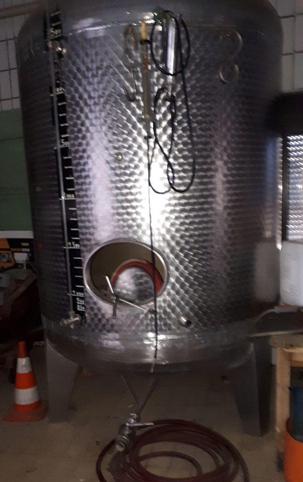 Gemeinsame Wein Tank VA Edelstahl 4000 Liter in Kindenheim - Landwirtschaft @OB_42