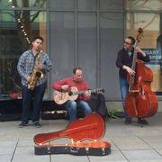 Blues Jazz Musiker für Straßenmusik