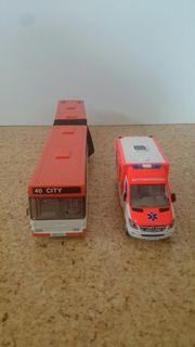 Siku Bus und Krankenwagen