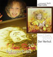 Sandmalerei mit Iryna Chaplin mit