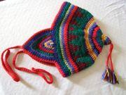 Kinder-Mütze bunt Handarbeit Kinderkleidung
