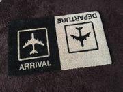 Fußmatte Schuhabstreifer ARRIVAL DEPARTURE Flugzeug
