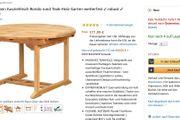 Teak Gartentisch ausziehbar