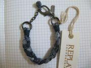 REPLAY Schmuck Armband Jeans Edelstahl