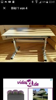 mitwachsender stufenweise verstellbarer Schreibtisch