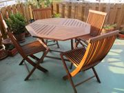 Gartenmöbel - Tisch klappbar und Stühle
