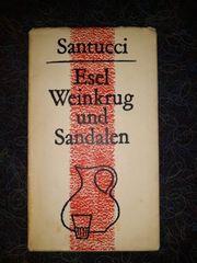 Esel Weinkrug und Sandalen - Santucci