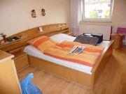 Schlafzimmer - Bett - Kommode - Eiche hell