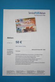 50 EUR Reisegutschein - Einlösbar bei