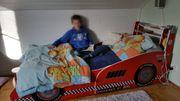 Rennwagenbett komplett mit hochwertigem Lattenrost