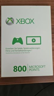 Microsoft Points 800 X-Box