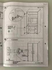 Computer- Büro- Schreibtisch- Schrank Buchen-Optik