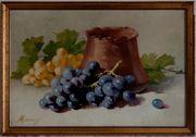 Antik-Gemälde WALTER MEINIG 1902 Stilleben