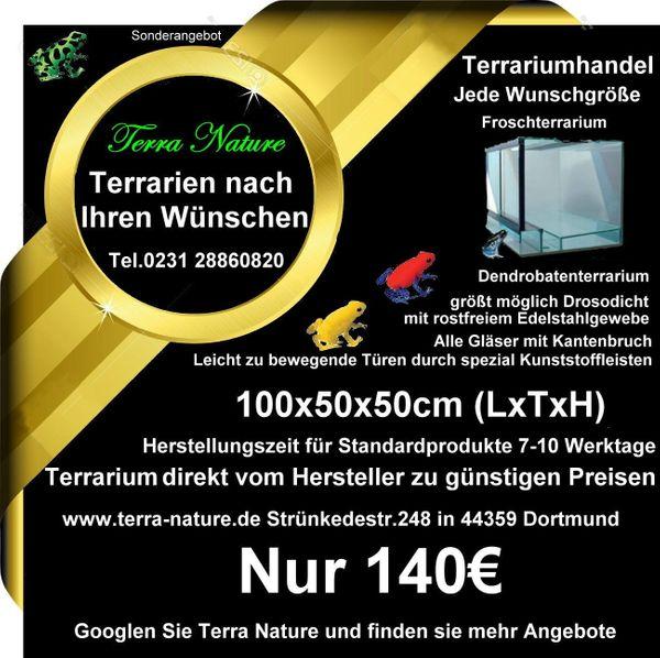 Dendrobaten-Terrarium 100x50x50cm LxTxH Froschterrarium