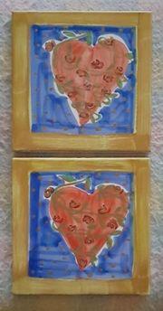 Keramik-Untersetzer glasiert - Made in Italy