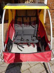 Kindercar Fahrradanhänger für 2 Kinder