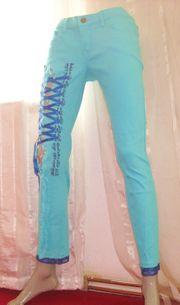Slim Jeans Unique türkis Gr