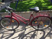 Fahrrad Citybike 26 zoll weinrot
