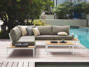 Lounge Set Aluminium weiß 4-Sitzer
