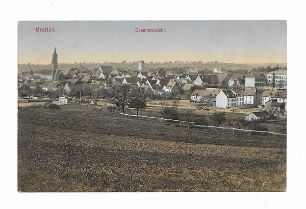 Feld-Postkarte Bretten 1918 BW