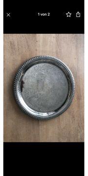Platzteller Dekorteller Teller rund versilbert