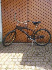 Beachcruiser Fahrrad Bike Zweirad Schwarz