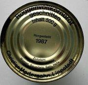 Dosenbrot Bundeswehr 1987