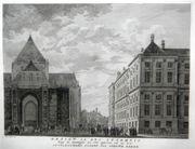 Amsterdam-Stadthaus-Original-Kupferstich-Graphik-Grafik