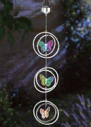 Windspiel Schmetterling Garten Dekoration Solar