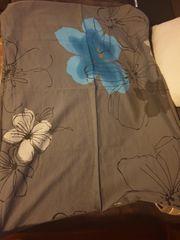 Bettwäsche in grau blau schwarz