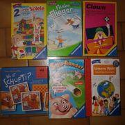 verkaufe Spiele Puzzle Tischspiele Kindergartenalter