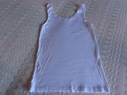 Damen Hemd Trägerhemd U-Hemd weiß