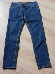 Damen Jeans Fishbone Mittellblau Gr