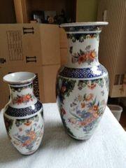Vasen Blumenmotiv bemalt Made in