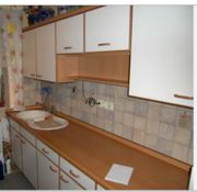 Einbauküche mit Gaskochfeld Elektrobackofen Kühlschrank