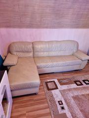 Couch Leder Sofa abzugeben