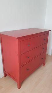 Kommode rot von Ikea