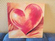 2 Wandbilder Herzen aus Holz