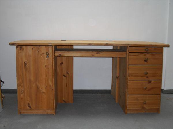 Schreibtisch - Kiefer massiv geölt zu
