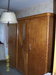 Alter Schlafzimmerschrank massiv Holz Jugendstiel